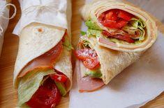 Kitchen Stories: Sandwich Pita Bread Roll with Cheese & Ham