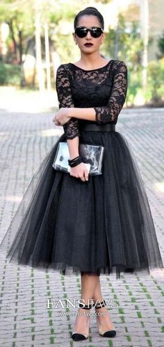 Black Homecoming Dresses With Sleeves, Princess Prom Dresses Short, Beautiful Party Dresses Lace, Classy Little Black Dresses Tulle Classy Homecoming Dress, Vintage Homecoming Dresses, Prom Dresses Long With Sleeves, Dresses Short, Tulle Prom Dress, Classy Dress, Cocktail Dress Classy Elegant, Cotillion Dresses, Graduation Dresses