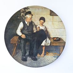 Norman Rockwell plate - The Lighthouse Keeper's Daughter. One of my Rockwell plate collection