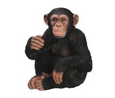 Sitting Chimpanzee Ornament #Chimp #Zoo