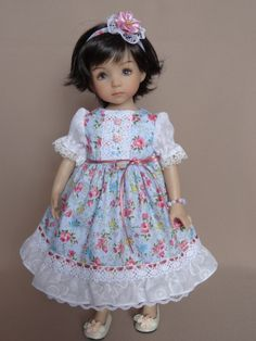Girl Doll Clothes, Doll Clothes Patterns, Clothing Patterns, Girl Dolls, Little Darlings, Diana, My Favorite Things, Flower Girl Dresses, Summer Dresses