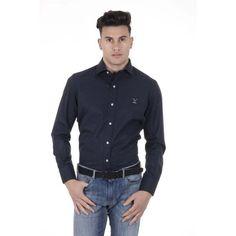 Dark Blue 40 IT - 15¾ US Versace 19.69 Abbigliamento Sportivo Srl Milano  Italia Classic Shirt 307 VAR. 93 b5e67f6710a