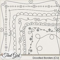 Doodle Borders #art #doodle #sketch #drawing #border #flowers