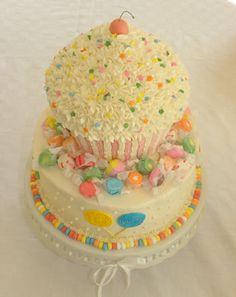 cup cake birthday cake