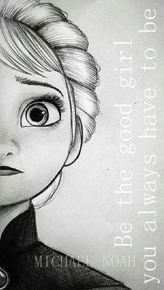 Elsa sketch and edit/-neat Frozen Drawings, Disney Drawings Sketches, Girl Drawing Sketches, Disney Princess Drawings, Disney Princess Art, Girly Drawings, Cool Art Drawings, Pencil Art Drawings, Easy Drawings