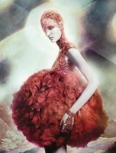 Zuzanna Bijoch for Alexander McQueen. Photographed by David Sims