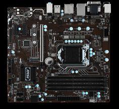 MSI B250MPROVDH B250M PRO-VDH DDR4 VGA DVI HDMI GLAN M2 SATA 6GB/S. USB3.1 mATX