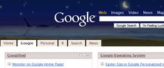 Set your iGoogle homepage to the beach theme. Wait until 3:14am (or if you can't, just move your clock forward). What monster this way comes? Could we be on the shores of Loch Ness?
