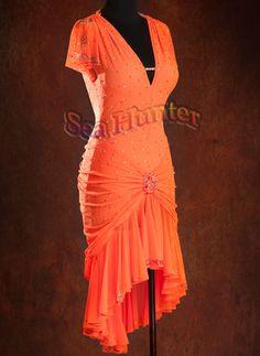Ballroom Latin Rhythm Paso Doble Salsa Rumba US8 Dance Dress#L2576 Pink
