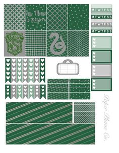 Printable Harry Potter Slytherin Planner Stickers by PaperPlumeCo