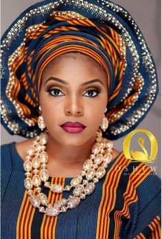 Beautiful Aso Ebi Make-up ~African fashion, Ankara, kitenge, African women dresses, African prints, Braids, Nigerian wedding, Ghanaian fashion, African wedding ~DKK