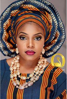Beautiful Aso Ebi Make-up ~African fashion, Ankara, kitenge, African women dresses, African prints, Braids, Nigerian wedding, Ghanaian fashion, African wedding ~DKK
