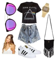 """Concert vibez ✌"" by cait-oshau on Polyvore featuring Floyd, adidas, RetroSuperFuture, Rip Curl, Johnny Loves Rosie, Casio, women's clothing, women, female and woman"