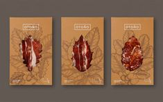 "Otoño is a company producing 100% Ibérico Spanish ham, made from free-range pigs raised in a sustainable environment.   Madrid-based studio Tres Tipos Gráficos was responsible for their new identity and packaging design.  ""We chose the brand name, ""Otoño"" (Autumn), as it represents a direct reference to the idea of climate and natural environment, as well as he trees that produce acorns, which are crucial to the quality and distinction of this exquisite product.""  More bra..."