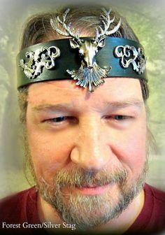 Stag Headpiece Cernunnos Yule Crown Stag Circlet by ArtisansofOld