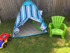 BEST Mommy Sand Pit Hack!! - No bugs, complete shade & no pet droppings!! SUPER CHEAP TOO!
