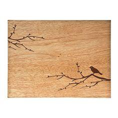 Denby set of four wooden bird placemats