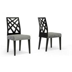 Marla Black Microfiber Modern Dining Chair - set of 4 | Marla Dining Chair-110/711 | Wholesale Interiors