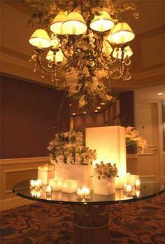 candles for tables and centerpieces