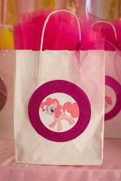 Favor Bags from a My Little Pony Birthday Party via Kara's Party Ideas…