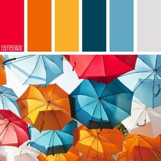 Color Palette: Cherry, Tangerine and Blue. If you like our color inspiration, sign up for our monthly trend letter - http://patternpod.us4.list-manage.com/subscribe?u=524b0f0b9b67105d05d0db16a&id=f8d394f1bb