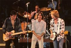 """thewildandthedarkness: """"thewildandthedarkness: """"Bruce Springsteen, Jackson Browne and Tom Petty, No Nukes concert """" R.P Tom Petty 😢 """" Lynn Goldsmith, Jackson Browne, E Street Band, Music Is My Escape, Tom Petty, Rock Legends, Bruce Springsteen, My Favorite Music, Music Stuff"""