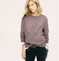 Lou & Grey Gridline Sportif Sweatshirt - Introducing a new line of easy, texture-rich pieces for your every day. For an easygoing sporty vibe, we infused silky crepe with seamed sweatshirt styling - and undeniably cool linework. Crew neck. Long sleeves. Rib knit neckline, cuffs and hem. �