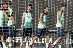 Supercopa: Messi y Adriano entrenan con el grupo - Deportes