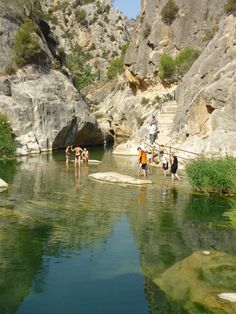 Spain has some amazing hot springs! This gorgeous hot swimming hole, Fontcalda, is in Tarragona.