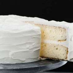 This made from scratch Moist White Cake is supremely light and tender.