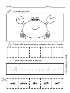 Scrambled Sentences (June) - Great for SUMMER PRACTICE/REVIEW! $