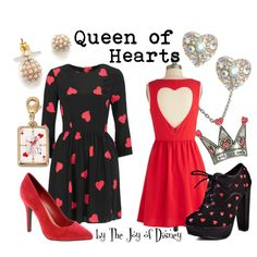 """Queen of Hearts (Alice in Wonderland)"" by thejoyofdisney on Polyvore"