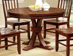 Tables 38204: Furniture Of America Cm3437rt Dark Oak Finish Round Dining Room Table -> BUY IT NOW ONLY: $355.78 on eBay!