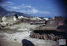 A damaged German tank in the Italian countryside south of Rome in 1944 or 1945   The Digital Collections of the National WWII Museum : Oral Histories