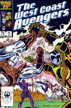 West Coast Avengers Vol. 2 # 11 by Al Milgrom & Joe Sinnott