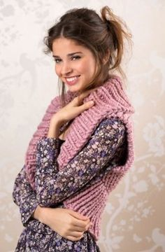 Cozy Shrug in Red Heart Grande - LW4525. Discover more Patterns by Red Heart Yarns at LoveKnitting. The world's largest range of knitting supplies - we stock patterns, yarn, needles and books from all of your favorite brands.
