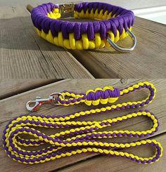 Paracord Dog Collar and Leash Set Zawbar Weaved