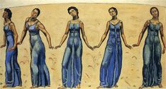 View into Infinity by Ferdinand Hodler. Art Nouveau (Modern). symbolic painting