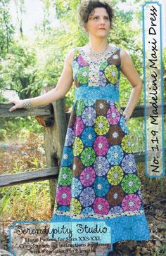 Madeline Maxi Dress sewing pattern from Serendipity Studio - Free USA Shipping. $11.00, via Etsy.