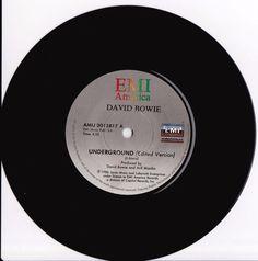 "DAVID BOWIE Underground 1986 South Africa Rare 7"" 45 Vinyl AMIJ2012817 Free S&H in Music, Records   eBay"