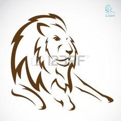 Vector immagine di un leone su sfondo bianco Archivio Fotografico - 19659830