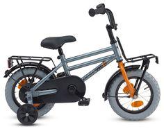 Door de Loekie Pick Up Grey kunnen ook de allerkleinste jongens op een trendy transportfiets fietsen. Deze 12,5 inch Pick Up, geschik voor jongetjes van 3 tot 4 jaar, heeft een voorrekje én een achterrekje. De stoere dikke banden hebben extra grip, ook op het gras en op zand. Een dubbele stang maakt de fiets stoer, voor kleine volwassenen. Afgewerkt met oranje accenten en een oranje voorvork maakt het fietsje net even iets anders.