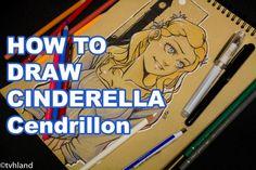 Comment dessiner Cendrillon? Dessin sur papier kraft