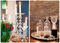 Kokoa kauniit kynttiläasetelmat