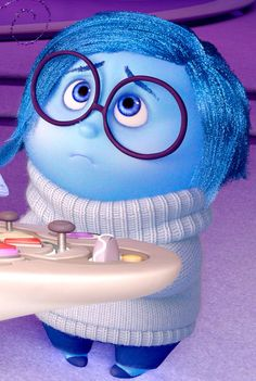 Sadness from Pixars inside out #disney