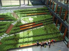 Roof Garden Design at Biological Institutes of Dresden University of Technology by Gerber Architekten.