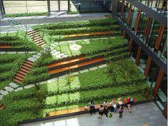 Roof Garden Design at Biological Institutes of Dresden University of Technology by Gerber Architekten.