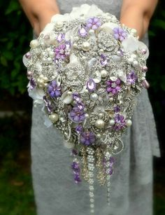 Wedding Trend: The Brooch Bouquet – Fashion Style Magazine - Page 13-- I just think this is so cool.  Amazes me the trends.