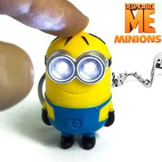 """Despicable Me Minions Led Keychain Cute Action Figure Toy Key Chain Wih Flashlight And Sound """"i Love U""""gift For Girlfriend ZKMDM"""