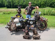 The Rat King Of Flat Lick Kentucky And His Classic Harley Rat Bike Rat Bike Rat King Classic Harley Davidson